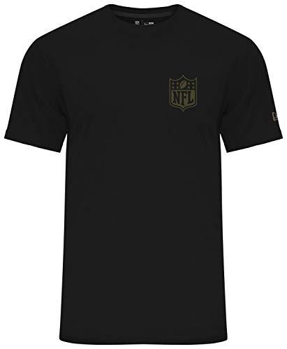 New Era Camo Collection Herren T-Shirt NFL Logo Schwarz, Größe:XXL (Letzte T-shirt Out)