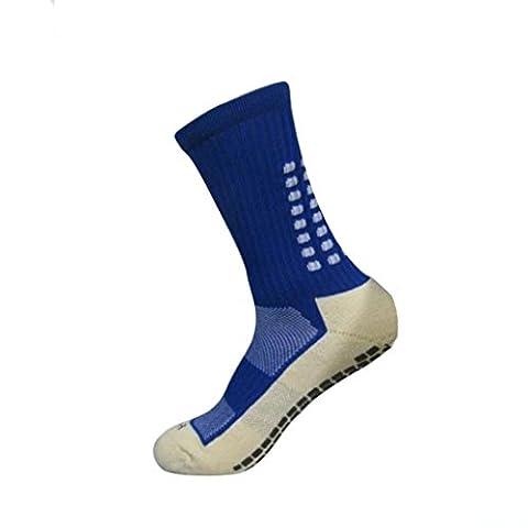 Unisex Sportsocken Transer® Baumwolle Premium Anti-Rutsch Fußball Fußball Sport Socken (Blau) (Gestreifte Verbandsmull)