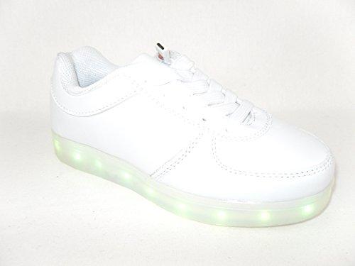 Love Pretty Shoes , Baskets à LED femme Weiß