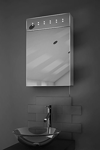 Sheva LED Illuminated Battery Bathroom Mirror Cabinet With Pull Cord k141