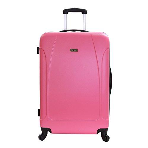 Karabar grande valigia rigida bagagli XL 76 cm 4,4 kg 100 litri con 4 ruote, Evora Rosa