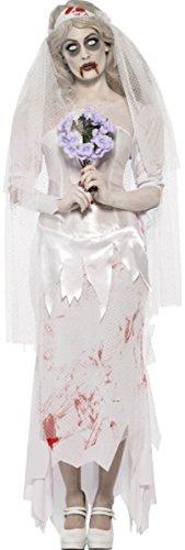 y till death do us part Zombie Braut Kostüm komplett (Komplette Damen Zombie Kostüme)