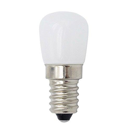 Phigoning 1 Stück LED Kühlschrank Birne E14 3W COB LED Lampe Leuchtmittel Licht Warmweiß AC220-240V
