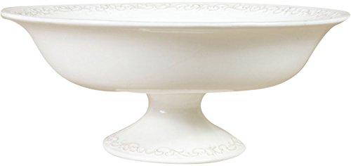 Alzata in porcellana bianca shabby l33xpr33xh14 cm
