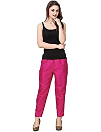 oneOeightdesigns Cotton Silk Pant with cotton lining (Size-XXXL) Magenta