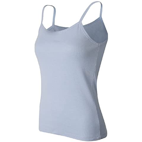 Bella Ladies 100% algodón para espaguetis correa Tank Top Tee Camiseta–Cuña de Lima