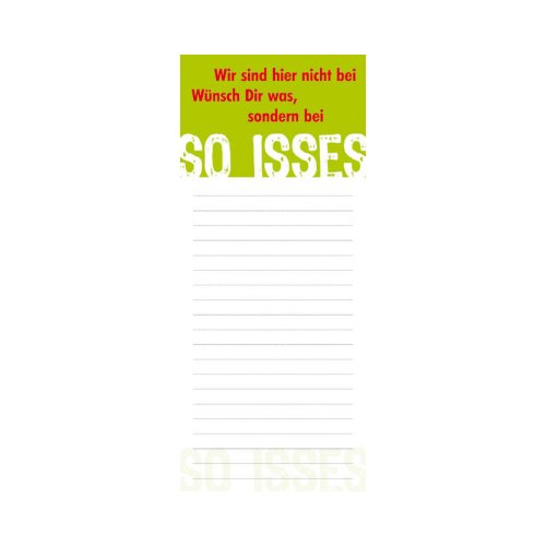 Rannenberg Kühlschrankblock Magnetblock Wir sind hier nicht bei Wünsch dir was 50 Blatt grün