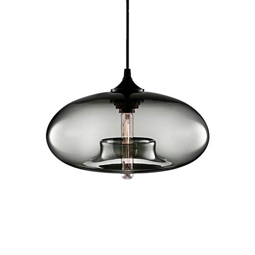 LMDH Deckenleuchte One-Light Indoor Mini Pendelleuchte, Bronze-Finish mit klarem Glasperlenglas (Farbe : Grau) - Mini-bronze-finish