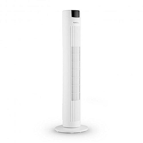Klarstein Skyscraper 2 g Ventilateur tour de pied Panneau tactile (Diffuseur de parfum 3 Vitesses fonction oscillation Filtre à air pour éliminer les particules de poussière de commande distance) Blanc