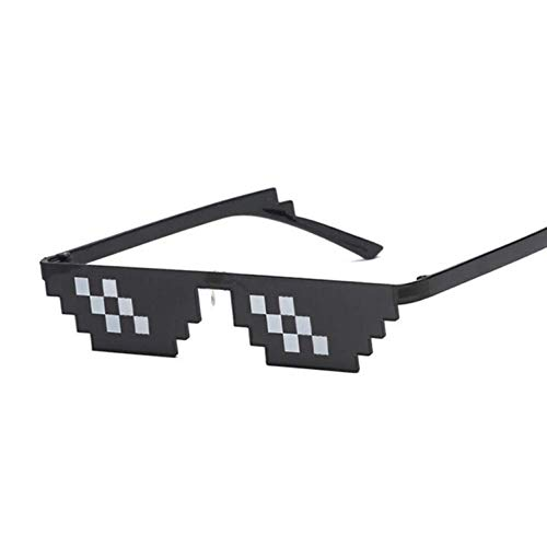 YHEGV Deal with It Brillen Damen Herren Thug Life Mosaic Sonnenbrillen Eyewear Cool auf der ganzen Welt