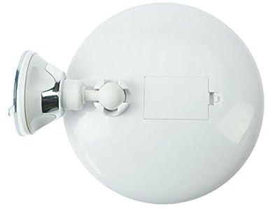 Kosmetex Spiegel, mit 10 fach Vergrößerung, LED Beleuchtung und Saugnapf. Ø 17, 5 cm. von Kosmetex - Spiegel Online Shop