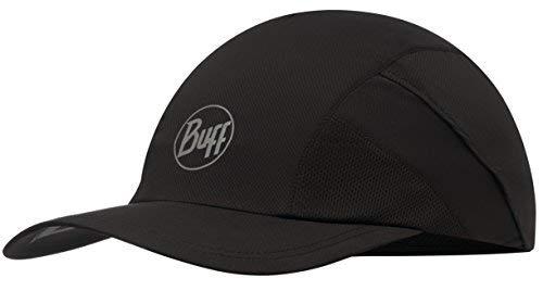 Buff Pro Run Cap Lauf-Cappy + Ultrapower Schlauchtuch | UV-Schutz | Laufen | Joggen | Sportmütze | Sport-Kappy | Laufkappe | Schirmmütze R-Solid Black - 117226.999.10.00