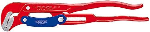 KNIPEX 83 60 015 Rohrzange S-Maul mit Schnellverstellung rot pulverbeschichtet 420 mm