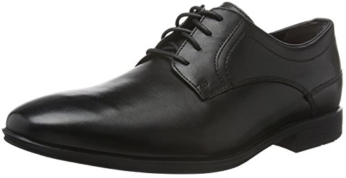 Rockport - Styleconnected Plain Toe, Scarpe stringate Uomo Nero (Schwarz (BLACK Lea))