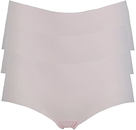 Ex Store No VPL Low Rise Shorts Knickers 3 Pack Pink 16