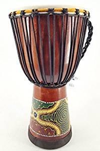 60cm Profi Djembe Trommel Bongo Drum Bunt Bemalt Großer Durchmesser Fair Trade