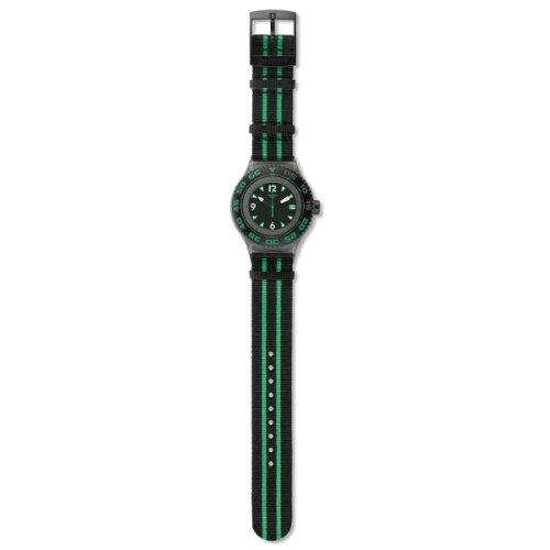 Swatch - Orologio da polso, analogico al quarzo, tessuto