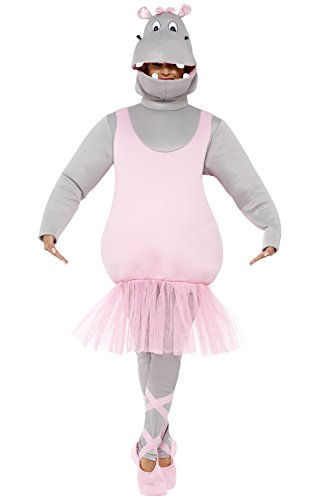 Hippo Ballettkostüm Ballerina Nilpferd Kostüm Ballett Nilpferdkostüm JGA Tutu Tierkostüm Junggesellenabschied Ganzkörperkostüm Zoo Lustiges Faschingskostüm Karnevalskostüme (Hippo Kostüm)