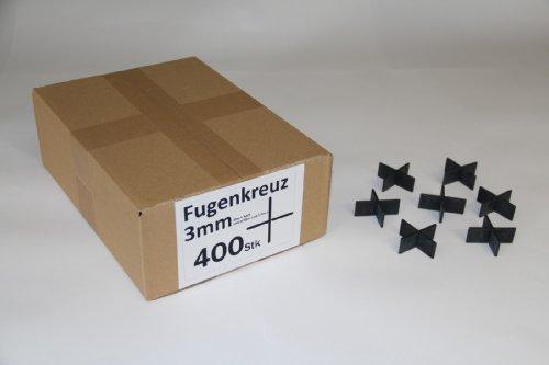 Fugenkreuze 3mm, Bauhöhe 20mm, 400 Stück im Karton