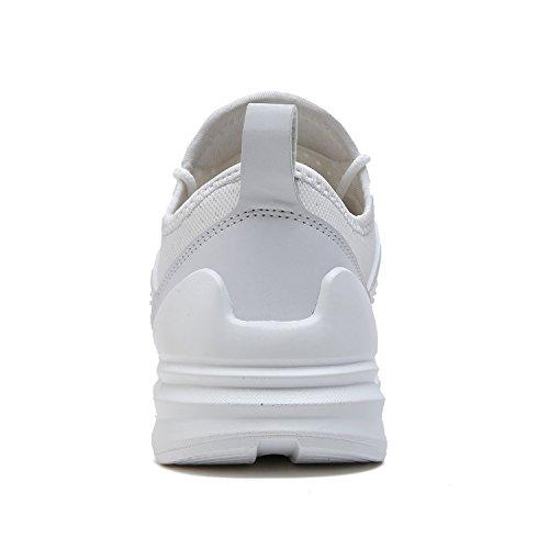 VITIKE Laufeschuhe Herren Ausbildung Schuhe Mesh Atmungsaktiv Turnschuhe Fitness Leicht Sport Laufen Schuhe 0-Weiß
