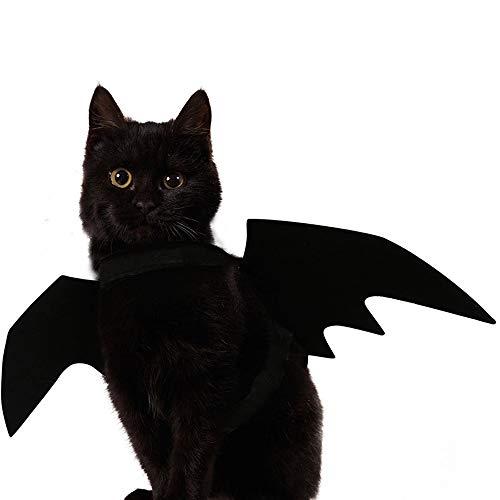 Ausgefallene Für Kleid Kostüm - BABYS'q Haustier Kostüm, Halloween Fledermausflügel Ausgefallene Kleid-Outfit, Für Welpenhund Katze,S