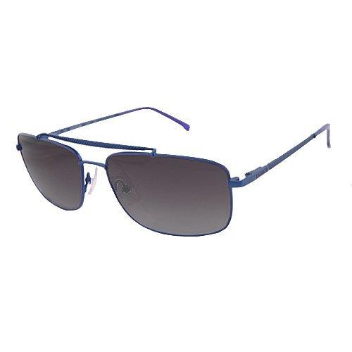 New Lacoste Unisex Metal Aviator Pilot Sunglasses - L133S (Satin Blue