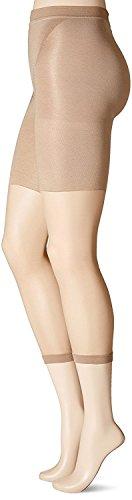SPANX `High-Faultin' Footless` (160) Formende Capri-Strumpfhose / hoher Bund (F (44/46), Haut (Nude)) (Strumpfhose Spanx Cotton)