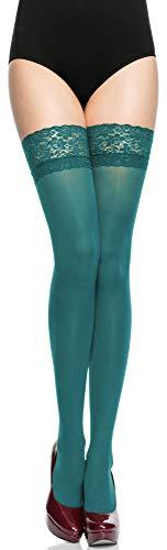 Merry Style Calze Autoreggenti in Microfibra Donna 40 DEN (Rame, 3/4 (40-44))