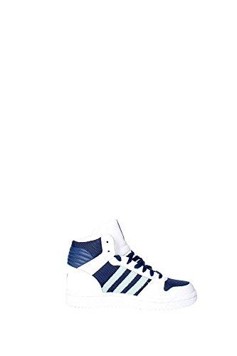 Adidas - Adidas Pro Play K Scarpe Sportive Donna Bianche Blu Pelle Tela B25707 Bianco