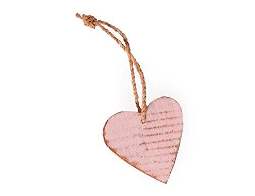 kadoh Herz Holzanhänger rosa 6 cm