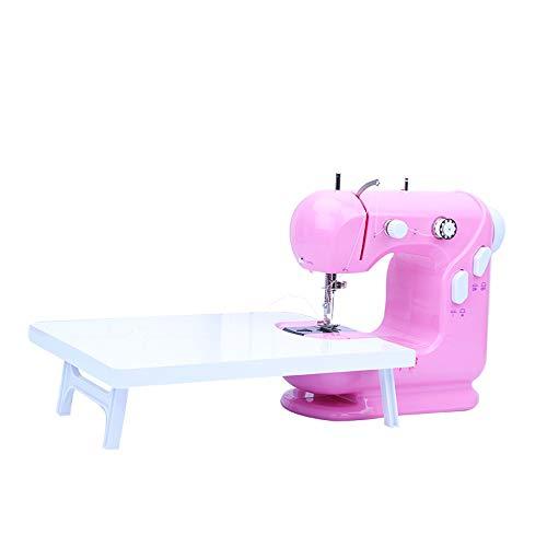 GYZ Máquina de Coser, máquina de reparación Manual, Manual, Manual, Manual, Mini Principiante, con Pedal Mini (Color : Pink)