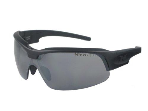 NYX Sport Vision Pro z-17Serie Sonnenbrille mit Z87.1Sicherheit Bewertung, mattschwarzer Rahmen/dunkelgrau Abweiser Sicherheit Objektiv, Medium