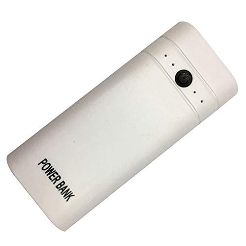 50 Mini Batterie-Bank-Fall-Mobiltelefon-Kunststoff-Energien-Bank-Kasten DIY Batterie-Backup-Ladegerät LED-Licht ()