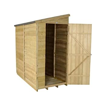 forest garden 6x3 overlap security garden shed pressure treated