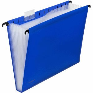 Foldersys Hängetasche A4 PP 12 Fächer blau