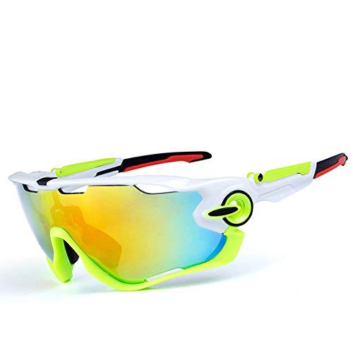Amody Brille Polarisierte Sonnenbrille Draussen Reiten Fahrrad Brille Sport Brille Weiß Grün Schwarz Rot