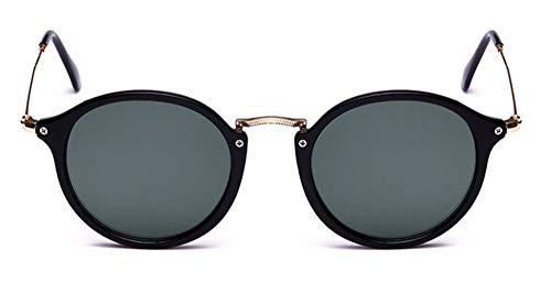 WSKPE Sonnenbrille Runde Sonnenbrille Sonnenbrille Frauen Männer Schattierungen Schildkröte Frame Sonnenbrillen Graue Linse