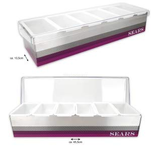 Sears Bar-Zutatenbehälter Cocktail Organiser Bar Caddy - 2er Set