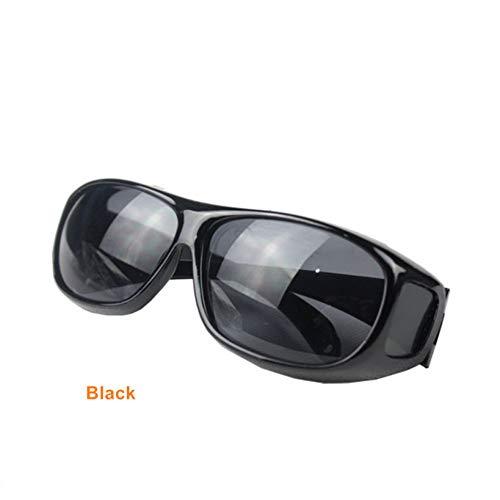 FEYGB Sonnenbrillen Vision Sonnenbrille Over Wrap Arounds Sonnenbrille Fahrerschutzbrille Nachtfahrbrille Anti Glare Eyeglasses, Silber