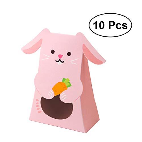ten-Box mit Niedlichen Tieren, Cartoon-Papier, Geschenk-Container für Geburtstag, Babyparty, Hochzeit (Hasen), 10 Stück ()