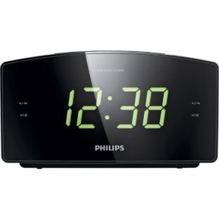 Philips Jumbo Display Alarm Clock Radio - Black  - Buy Online in