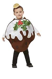 Smiffys 61036 Pudín de Navidad con purpurina, unisex, para niños, marrón, talla única