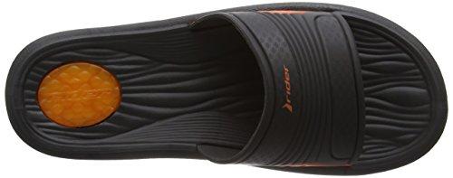 Rider - Montana V Ad Ff, Sandali Uomo Multicolore (Mehrfarbig (black orange 8064))