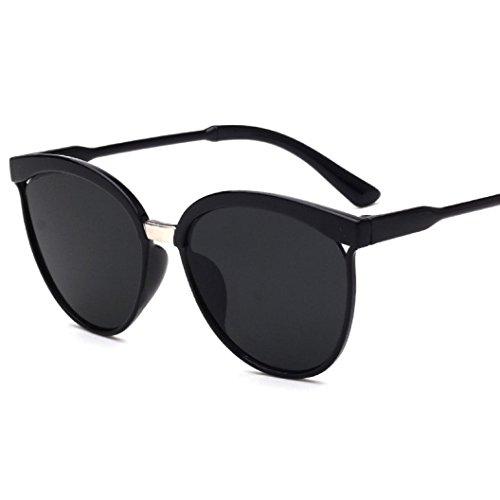 Rawdah Hombres Mujeres Cuadrados Vintage espejo gafas de sol gafas de deportes al aire libre (F)