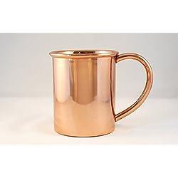 Kupfer Tassen,–Moscow Mule 100% massives reines Kupfer Tasse ungefüttert, handgefertigte Kupfer Becher–16Unze. Keine Nickel. Gut für Bier, Wodka Mule und Getränke. Ideal für Sommer Getränke und Geschenke.