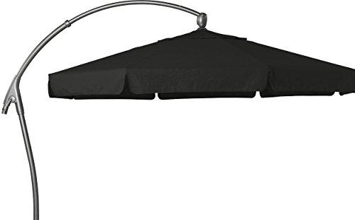 Hartman parasol déporté 350 cm-scope textile foncé parasol ombrelle pare-soleil en aluminium