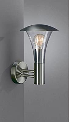 Massive BEAUMONT Outdoor Wall Light - Inox (Requires 1 x 60W E27 Bulb) [Energy Class A]
