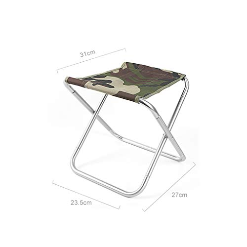 WEIFAN-Furniture Folding Camping Hocker Stuhl Leichte Aluminium Material Mini Stuhl Tragbare Outdoor Hocker Angeln Wandern Camping Picknick Reise / A1