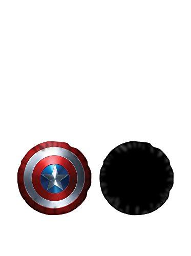 T&f 8054242509397 cuscino arredo sagomato marvel-capitan america, poliestere, multicolore, 37x20x5 cm