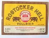 Bieretikett der Marke ''Rostocker Hell'',